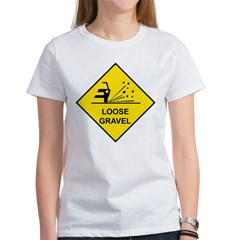Yellow Loose Gravel Sign - Women's T-Shirt