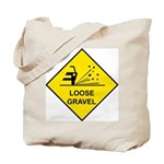 Yellow Loose Gravel Sign - Tote Bag