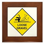 Yellow Loose Gravel Sign - Framed Tile