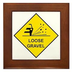 Yellow Loose Gravel Sign - Framed Tile
