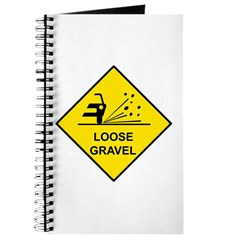 Yellow Loose Gravel Sign - Journal