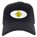 Yellow Loose Gravel Sign - Black Cap