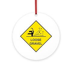 Yellow Loose Gravel Sign - Keepsake (Round)