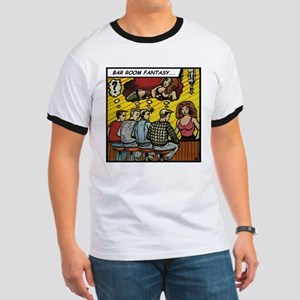 'Bar Room Fantasy' Ringer T-Shirt With Backprint