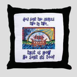 Noah's Ark / twins Throw Pillow
