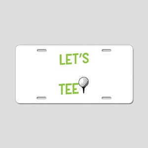 Golf Golf Player Let's Aluminum License Plate