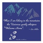 Hiking Mountains Universe Square Car Magnet 3
