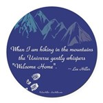Hiking Mountains Universe Round Car Magnet