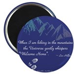 Hiking Mountains Universe Magnets