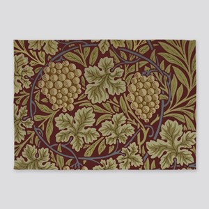 William Morris Grape Vine Wallpaper 5'x7'Area Rug