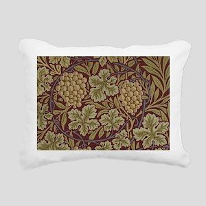William Morris Grape Vin Rectangular Canvas Pillow