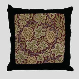 William Morris Grape Vine Wallpaper Throw Pillow