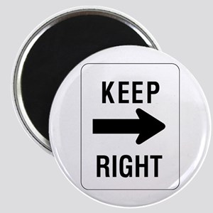 Keep Right Sign - Magnet