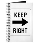 Keep Right Sign - Journal