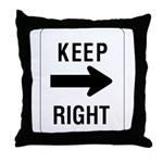 Keep Right Sign - Throw Pillow