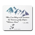 Hiking Mountains Universe Mousepad