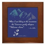 Hiking Mountains Universe Framed Tile