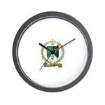 FORGET Family Crest Wall Clock