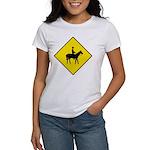 Horse Crossing Sign Women's T-Shirt