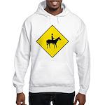 Horse Crossing Sign Hooded Sweatshirt