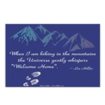 Hiking Mountains Universe Postcards (Package of 8)
