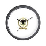 FORET Family Crest Wall Clock