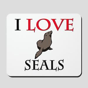 I Love Seals Mousepad