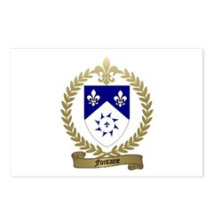 FONTAINE Family Crest Postcards (Package of 8)