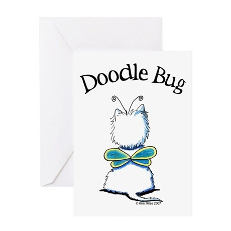Doodle Bug Westie Greeting Card