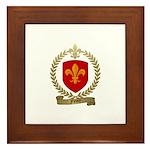 FLEURY Family Crest Framed Tile