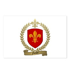 FLEURY Family Crest Postcards (Package of 8)
