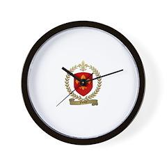 FLEURY Family Crest Wall Clock