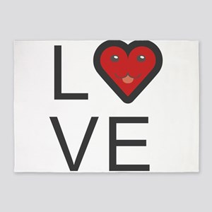 Love Cute Valentines Day Lover Gift 5'x7'Area Rug
