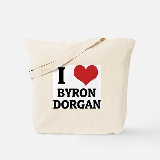 I Love Byron Dorgan Tote Bag
