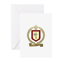 FLANC Family Crest Greeting Cards (Pk of 10)