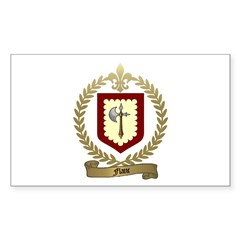 FLANC Family Crest Rectangle Decal