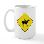 Horse and Rider Sign - Large Mug