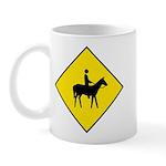 Horse and Rider Sign - Mug