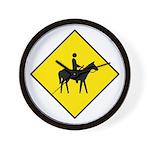 Horse and Rider Sign - Wall Clock