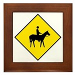 Horse and Rider Sign - Framed Tile
