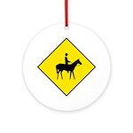Horse and Rider Sign - Keepsake (Round)