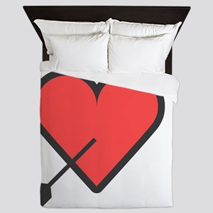 Hearth Arrow Super Cute Valentines Day Queen Duvet