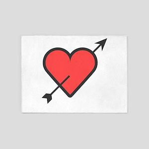 Hearth Arrow Super Cute Valentines 5'x7'Area Rug