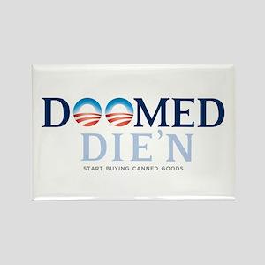 Doomed Anti Obama Gear Rectangle Magnet
