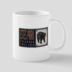 Estes Park Black Bear Badge Mug