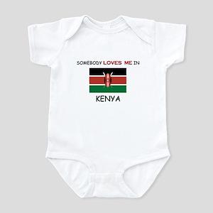 Somebody Loves Me In KENYA Infant Bodysuit