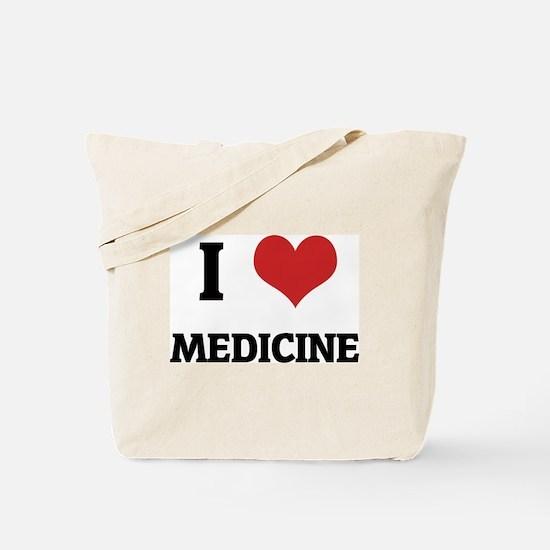 I Love Medicine Tote Bag