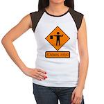 Flagman Ahead Sign 2 Women's Cap Sleeve T-Shirt