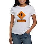 Flagman Ahead Sign 2 Women's T-Shirt