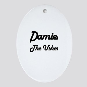 Damien - The Usher Oval Ornament